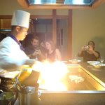 Teppanyaki dinner at Arakawa restaurant