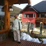In Front of Hosteria Sudbruck Restaurant at Morning (Winter)