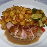 Roast duck in port and foie gras sauce