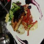 blue berry salmon