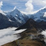Eiger, Monk & Jungfra on a cloudy day