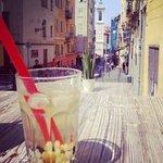 bubble tea avec sur la rue Rossetii