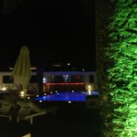 Hotel Aegeon - Pool at night