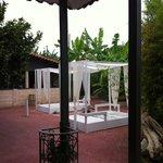 Nice garden for massages