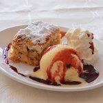 Home made Royal Apple Cake with Ice Cream