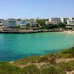 Cala Marsal beach , five minute walk away..