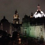 View from Las Sirenas at night. (9pm)