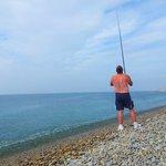 Fishing on Chesil Beach
