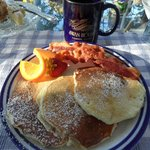 Yummy blueberry pancakes