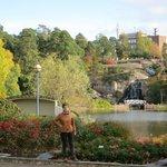 вид на водопад в парке Сапокка