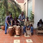With the local band at the Holiday Inn, Accra was fun.