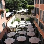The secret garden from hotel room