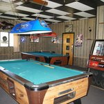 Pool tables by the bar