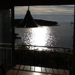 Abendstimmung - Blick vom obersten Appartement aufs Meer, einfach wunderschön zu jeder Tages- un