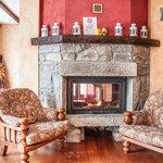 Fireplace Agriturismo Lake como