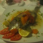 Baked sea bream.........wonderful