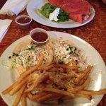 fish tacos and seafood quesadilla