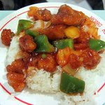 Sweet & Sour Chicken on Rice