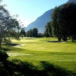 Blick zum Golfplatz