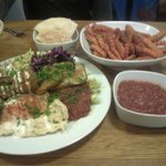 The Falafel and Hummus Salad