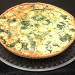 Quiche with Cheese, Tomato, Onions - Each day a different flavour