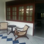 Seating area outside the room