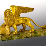 S. Marco Lion, had carved sculpture, swiss pine wood, gilded with 24 carats pure gold.