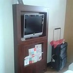 TV handy if you want it, beds are opposite..