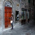 A porta de entrada típica de Siena