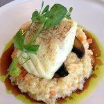 Smoked halibut on risotto - amazing!