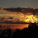 Coucher de soleil du chalet N°8