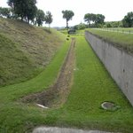 Trench where they were shot