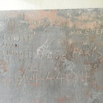 Cities and dates carved in the wall