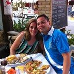 Ellen en Justin aan het diner in restaurant Papillon