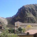 Ruinas Incas vista da sacada do hotel