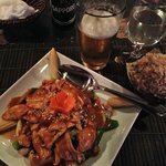 Amazing Asian chicken dish at Siam