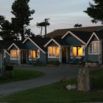 Juan De Fuca Cottages at sunset