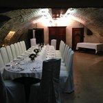 Table de mariage dans caveau