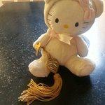 la clef de la chambre avec la peluche a notre fille :-)