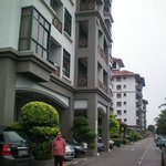 front view of hotel.