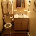 on suite bathroom in the Sarah Walton room