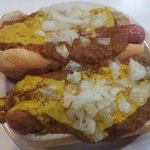 Coney dogs with everything.