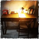 Desk in one of the rooms