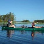 Paddling across Figtree Lake