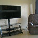 Big flat screen tv in living room