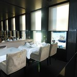 very modern dining room , great breakfast area with sea view