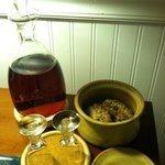 Complimentary Sherry & homemade cookies.