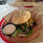 Friendship burger, if I recall. Quite good.