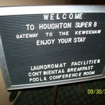 Welcome sign in lobby