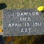 The grave of J. Dawson